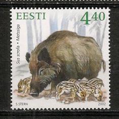 Timbre straine, Nestampilat - Estonia.2002 Animale salbatice HE.138