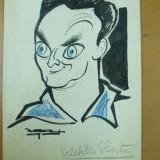 Tablou, Portrete, Cerneala, Altul - Neagu Radulescu caricatura Valentin Silvestru