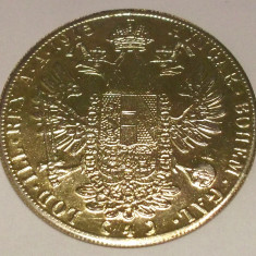 Monede Straine, Europa, An: 1915 - G5 COPIE AUSTRIA 4 DUCATI 1915, NU E DIN AUR, FRANZ IOSIF - 8, 48 g, 40 mm **