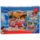 Puzzle Clubul Mickey Mouse, 3X49 Piese