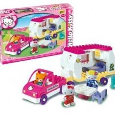 Set Constructie Unico Plus Hello Kitty Rulota - Jocuri Seturi constructie