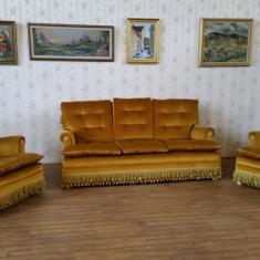 Mobilier, Sufragerii si mobilier salon, 1900 - 1949 - REDUCERE 20%. Salon stil Empire, canapea cu 2 fotolii