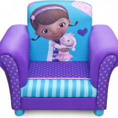 Fotoliu Cu Cadru Din Lemn Disney Doctorita Plusica - Set mobila copii