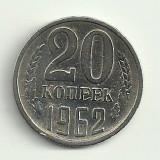 RUSIA URSS 20 COPEICI KOPEICI KOPEKS 1962 [3] livrare in cartonas, Europa, An: 1962, Cupru-Nichel