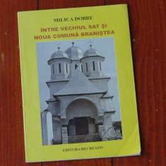 Carte - Intre vechiul sat si noua comuna Branistea de Milica Dobre - 2006 /60pag