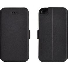 Husa Microsoft Lumia 640 XL Nokia Flip Case Slim Inchidere Magnetica Black - Husa Telefon Nokia, Negru, Piele Ecologica, Cu clapeta, Toc