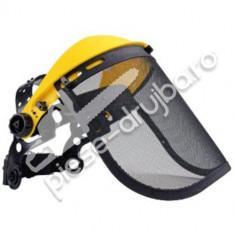 Viziera protectie pentru motocoasa plasa metalica (galbena)