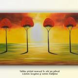 Tablou living, dormitor - Peisaj african - 120x60cm - LIVRARE GRATUITA IN 24-48h - Pictor roman, An: 2013, Peisaje, Ulei, Altul