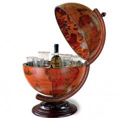 Glob pamantesc de birou cu suport intern pentru bauturi