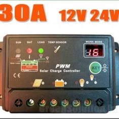 Regulator / Controller solar fotovoltaic, Panouri/Celule Fotovoltaice 30A-12/24V