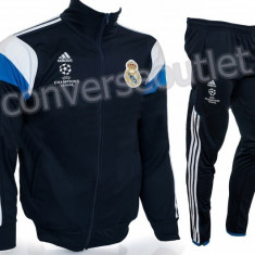 Trening ADIDAS REAL MADRID - Bluza si pantaloni conici - Modele noi Pret Special - Trening barbati, Marime: S, M, L, XL, Culoare: Din imagine