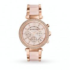Ceas Michael Kors Dama MK5896 'Parker' Rose Goldtone Chronograph - Ceas dama Michael Kors, Casual, Quartz, Inox, Cronograf