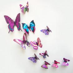 Tapet copii, Galben - Sticker 3D Fluturi Butterflies Decoratiune Perete Dormitor Autocolant Camera