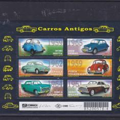 Auto, masini vechi, Brazilia. - Timbre straine, Nestampilat
