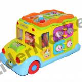 Jucarie educativa autobuz scolar - cu sunete si lumini