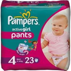 Scutece unica folosinta copii - PAMPERS Scutece Active Girl 4 Maxi Carry Pack 23 buc