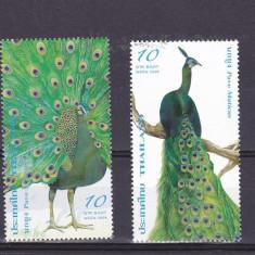 Timbre straine, Nestampilat - Fauna, pasari, pauni, Tailanda.
