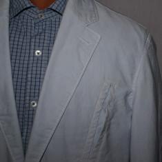 Sacou barbati HUGO BOSS Orange Label marimea 50 model sport albastru deschis, 2 nasturi, Marime sacou: 50, Normal, Bumbac