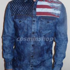 Camasi ARMANI Jeans - Slim Fit - NOUA COLECTIE 2016 !!! - Camasa barbati Armani, Marime: S, L, XXL, Culoare: Albastru, Maneca lunga