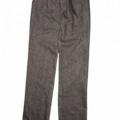 Pantaloni bej cu bleumarin Levi's, stofa lana, 14 ani