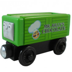 Trenulet de jucarie, Lemn, Unisex - Wooden jucarie trenulet Thomas - CHOCOLATE CAR vagon din lemn cu magnet - NOU