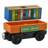 Wooden trenulet jucarie Thomas - SODOR LIBRARY CAR vagon din lemn cu magnet -NOU - Trenulet de jucarie, Unisex