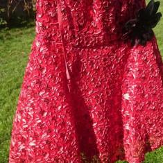 Rochie rosie scurta din dantela - Rochie de seara, Marime: 40, Culoare: Rosu