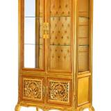 Mobilier, Sufragerii si mobilier salon - VITRINA DEOSEBITA DIN LEMN MASIV AURIU