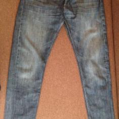 Blugi barbati - Pantaloni blugi denim Massimo Dutti barbati slim fit