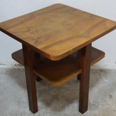 Mobilier - Masa patrata din lemn masiv; Masuta cafea