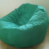 accesoriu mobila - Husa verde frunza pentru fotoliu puf, detasabila, lavabila, din material textil