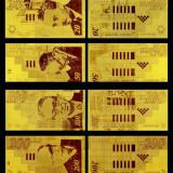 Bancnota Straine, Europa, An: 2010 - Lot Bancnote Israle placate cu aur 20 shekel 50 shekel 100 shekel 200 shekel