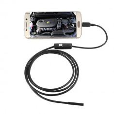 CAMERA VIDEO ENDOSCOP 7mm, lungime 3.5m pt. ANDROID si PC cu iluminare LED