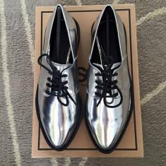 Pantofi dama argintii - Pantof dama Asos, Marime: 36.5, Culoare: Argintiu