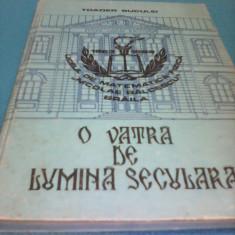 O VATRA DE LUMINA SECULARA-LICEUL NICOLAE BALCESCU 1863-1988 TOADER BUCUREI, RARA - Carte Monografie