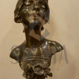 STATUETA, JULIEN Caussé , CIGALE, bronz, h- 31 cm
