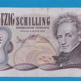 bancnota europa - Austria 50 schilling 1970 aUNC 10