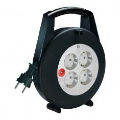 Priza - Prelungitor electric rola Brennenstuhl, 5 m, Negru/Gri