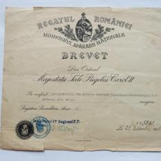 BREVET ROMANIA-PREGATIREA PREMILITARA CLASA A-II-A PERIOADA CAROL II