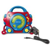 Aniversari copii - Cd Player Portabil Cu 2 Microfoane