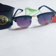 Ochelari de soare Ray-Ban Clubmaster, Unisex, Violet, Plastic, Protectie UV 100%