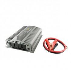 Jocuri PC - Whitenergy invertor DC/AC de la 12V DC la 230V AC 1000W, 2 AC receptacle