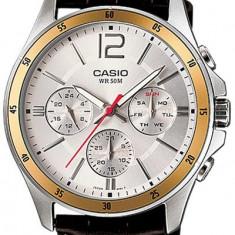 Ceas Casio barbatesc cod MTP-1374L-7AVDF - pret 379 lei (NOU; ORIGINAL) - Ceas barbatesc Casio, Casual, Quartz, Inox, Piele, Ziua si data