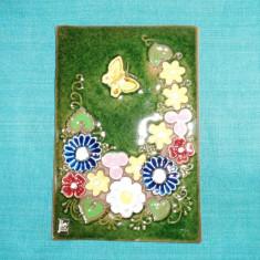 Tablou mare - basorelief ceramica emailata, handmade - design Aimo, JIE Gantofta - Arta Ceramica