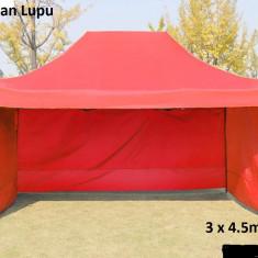 Set gradina - Pavilion cort pereti laterali 3 laturi pliabil 3x4.5m NOU metalic rezistent