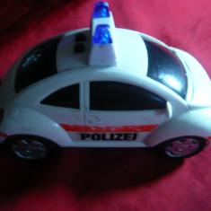 Jucarie Masinuta de Politie L= 13, 5 cm, baterii, plastic - Jucarie de colectie