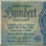 Bancnota Straine, Europa - A 140 BANCNOTA-GERMANIA- 100 MARK- anul 1935 -SERIA 1737876 -starea care se vede