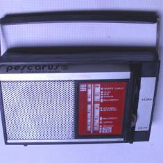 Aparat radio - Radio vechi pescarus functional; are lipsa capac baterie