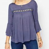 Bluza din vascoza Only - art. 15113524 blue vintage - Bluza dama Only, Marime: 36, 38, Culoare: Albastru