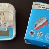 Incarcator telefon, De priza - Incarcator universal de acumulator - baterie telefon cu afisaj LCD si USB